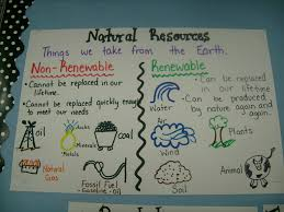 Chart On Renewable And Nonrenewable Resources Polygon Anchor Chart Google Search Science Lessons