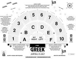 Theatre Seating Chart Greek Theater Los Angeles Seating Chart With Seat Numbers