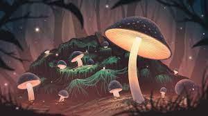 Glowing Mushroom [1920X1080]: wallpaper
