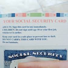 Cut Social Security Cereal Like Card Was Looks It A Of rearfront Out