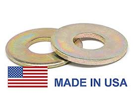 1 2 An960 Flat Washer Usa Low Carbon Steel Yellow Cadmium