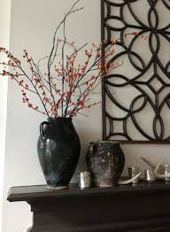 ... Charming Shiny Classic Decorative Branches For Vases With Holder Made  From Porcelain Black Finish Red Small