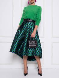 Sharon Jacquard Midi Skirt Fits S Xs