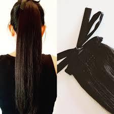 """18"""" 95G Remy Hair Ponytail Lace Ribbon - POSH ♥ LOCKS"""