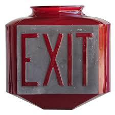 american art deco three sided exit globe