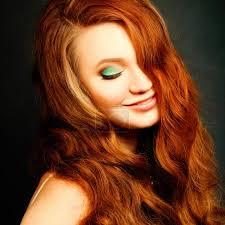Fotografia Dlouhé Kudrnaté Zrzavé Vlasy Módní žena Portrét Krásy
