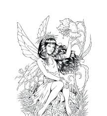 Fairy Coloring Book Pages Detailed Coloring Pages For Adults Court