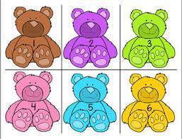 Teddy Bear Chart Teddy Bear Count Pocket Chart Activity