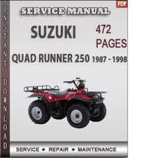suzuki quad runner 250 1987 1998 factory service repair manual do pay for suzuki quad runner 250 1987 1998 factory service repair manual