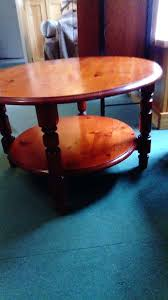 round pine coffee table round pine coffee table nearly years old so showing some scuffs and