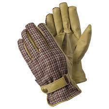 garden gloves. Leather Checked Gardening Gloves Garden 0