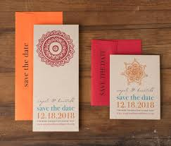 Red Save The Date Cards Modern Indian Wedding Save The Dates Unique Save The Date