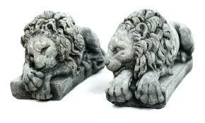 concrete lion statues lions pair large statue outdoor garden of a marble statuary stone bronze large lion statues outdoor