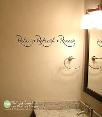bathroom wall vinyl relax refresh renew bathroom sayings e vinyl lettering wall words stickers decals
