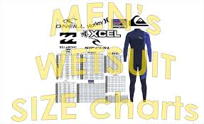 Oneill Mens Wetsuit Size Chart Surf Wetsuit Size Charts For Men 7 Brands Imperial Metric
