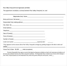 event agreement contract event planner contract template