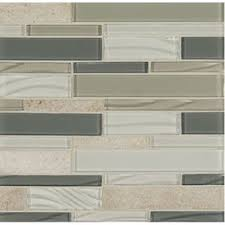 Bedrosians 12 in x 12 in Intrigue Mosaics Heather Grey Mixed