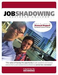 Job Shadowing Program Annual Report