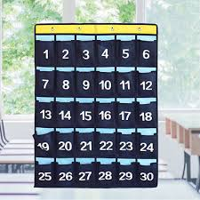 Cell Phone Pocket Chart Numbered Classroom Pocket Chart For Cell Phones Calculator Holders With Hooks Ebay