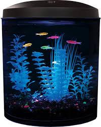 2 Gal Starter Aquarium Kit Led Light Fish Tank Bowl Filter