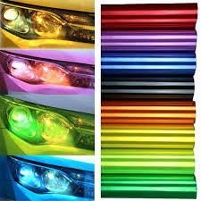 Car Light Film 120cm 12 X 47 Chameleon Color Changing Tint Vinyl Wrap Sticker Headlight Film Car Light Lamp