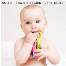 6 Months Baby Diet Chart After 180 Days 6 Months Kitchen