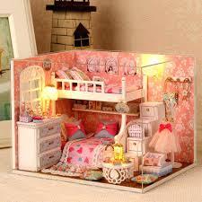 minature doll house furniture. Miniature Dollhouse Furniture Handmade Doll House Houses Wooden Education Board Game Kits Minature