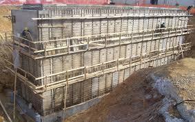 concrete construction with aluminum
