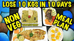 How To Lose Weight Fast 10kg In 10 Days 1200 Calorie Non Veg Meal Plan Diet Plan