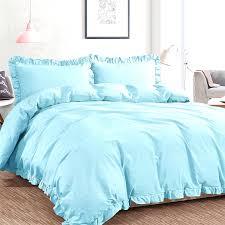 3 piece washed cotton king size duvet cover set alaskan blue ntbay inside bedding