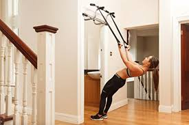 Triple Door Gym Ultimate 3 In 1 Doorway Trainer Raised Height Pull Up Bar Dips Bar 2 Suspension Straps For A Total Body Home Workout Screwless