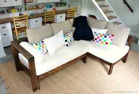 ana white kids couch 2x4 diy sectional with crib mattress cushions diy projects
