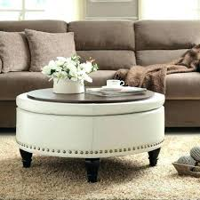 round coffee table ottoman ottoman living room with regard to home ideas coffee table ideas charming