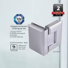 reh400 frameless shower screen