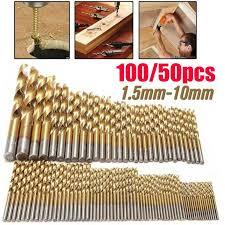 <b>50/100 Pcs</b>/<b>Set</b> HSS Wood Tool Drill Saw Set <b>Bit Set</b> 1/1.5/2/2.5 ...