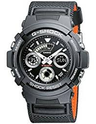 mens watches shop amazon uk casio g shock men s watch black analogue display and nylon strap aw 591ms