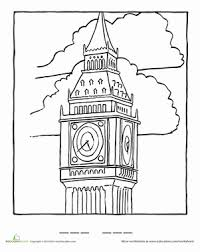 Big Ben Coloring Page Worksheet