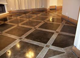 painted concrete floors stained concrete floor ideas