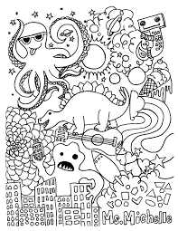 educational coloring pages for second grade