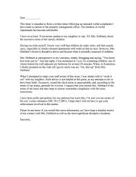 complaint letter to neighbor apartment noise landlord complaint letter