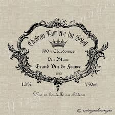 Free Printable Wine Labels Vintage French Wine Label Instant Download Digital Image No 27 Iron