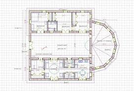 center courtyard house plan plans small large modern with bathroom