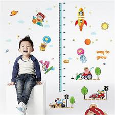Baby Height Wall Chart Generic Space Rocket Kids Baby Height Growth Chart Measure