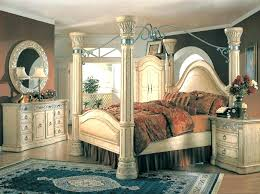 King Size Canopy Bed Sets White Full Size Bedroom Set Antique Canopy ...