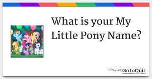 My Little Pony Personality Chart What Is Your My Little Pony Name