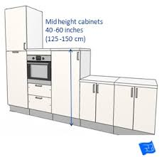 cabinets dimensions. mid height kitchen cabinets dimensions