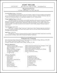 resume resume for new nursing graduate registered nurse resume template free