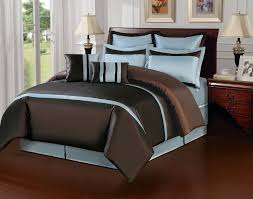 blue and brown duvet cover
