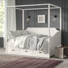 Greyleigh Tazewell Canopy Daybed with Storage | Wayfair