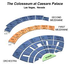 Colosseum Ceasar Palace Seating Chart Caesars Palace Seating